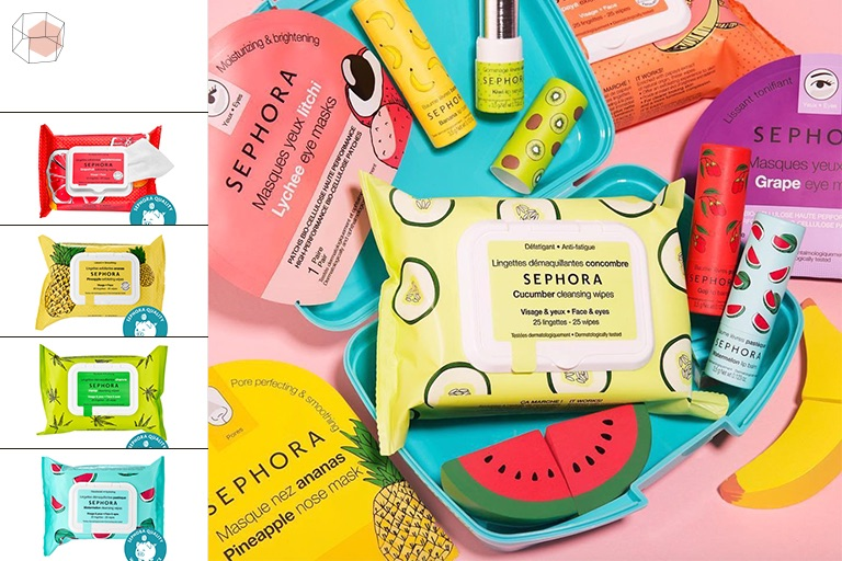 Sephora Collection : Mini Colorful Cleansing Wipes