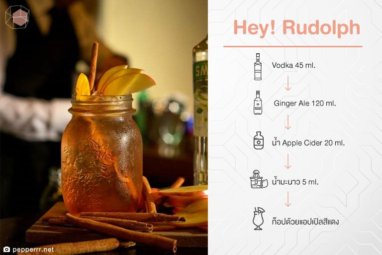 สูตร Cocktail Hey! Rudolph