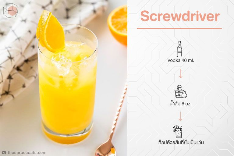 สูตร Cocktail Screwdriver