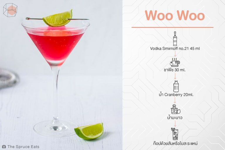 สูตร Cocktail Woo Woo