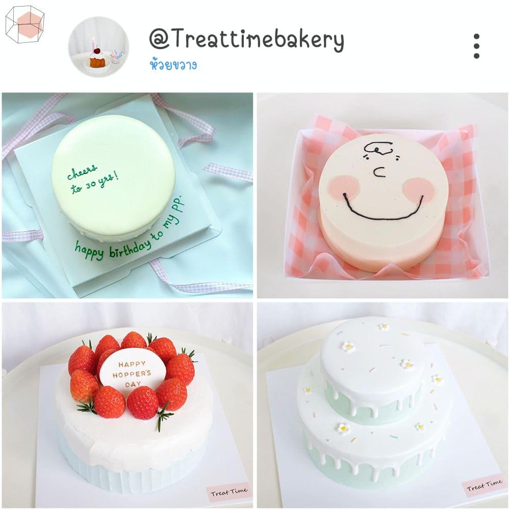 ร้านเค้กวันเกิด Instagram เค้ก เค้กมินิมอล minimal เค้กเกาหลี
